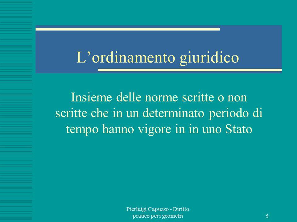 Pierluigi Capuzzo - Diritto pratico per i geometri 4 Il rapporto giuridico È una relazione fra due o più soggetti regolata dal diritto