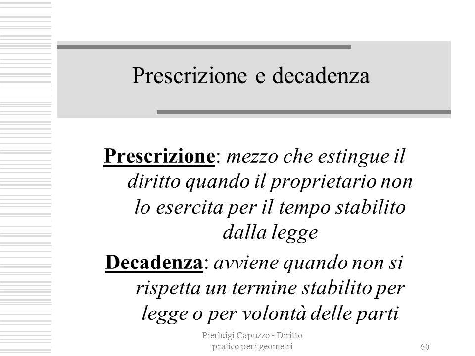 Pierluigi Capuzzo - Diritto pratico per i geometri 59 Cause legittime di prelazione Privilegio Pegno Ipoteca (legale, giudiziale, volontaria)