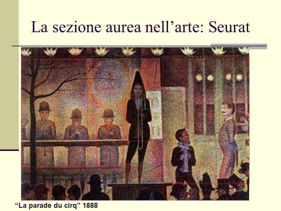 "La sezione aurea nell'arte: Seurat ""La parade du cirq"" 1888"