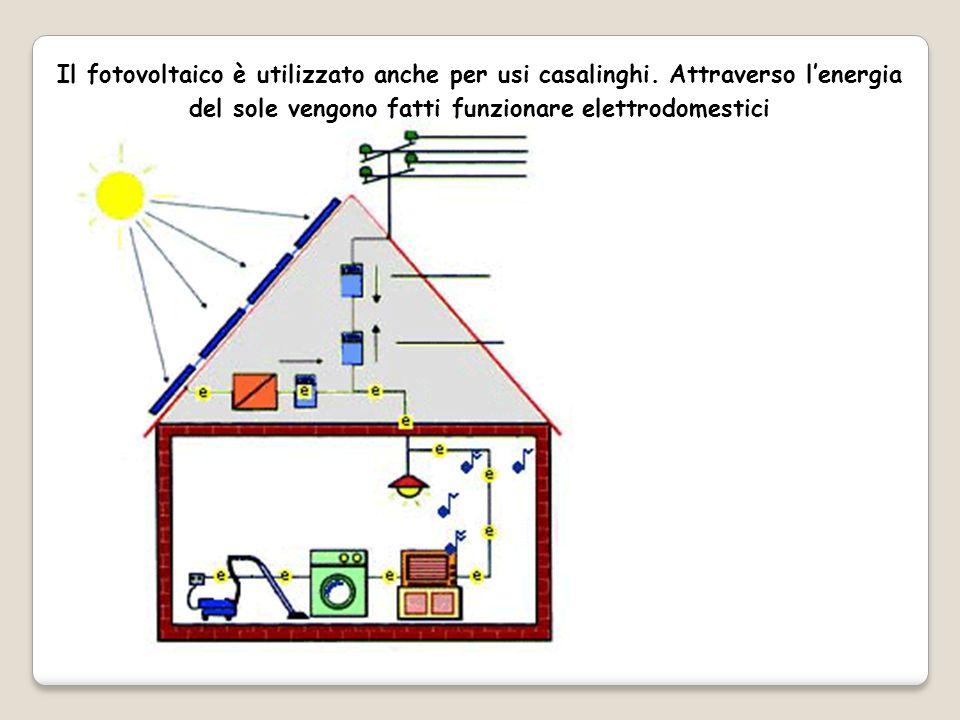 Il fotovoltaico è utilizzato anche per usi casalinghi.