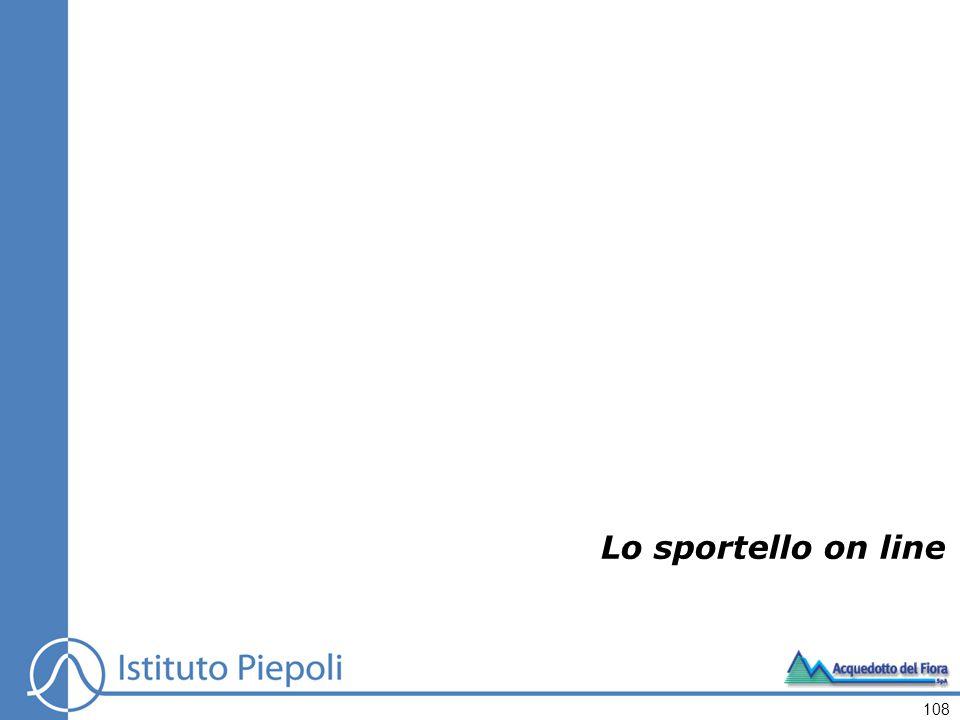 Lo sportello on line 108