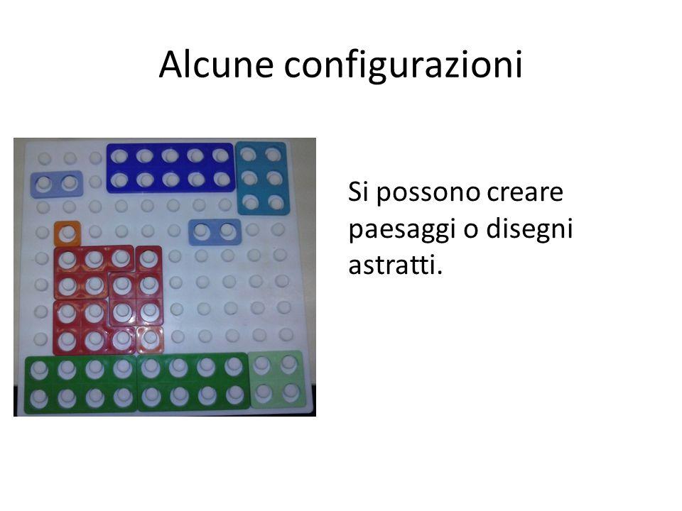 Alcune configurazioni Si possono creare paesaggi o disegni astratti.