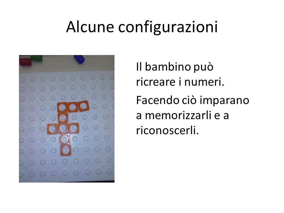 Alcune configurazioni Il bambino può ricreare i numeri.