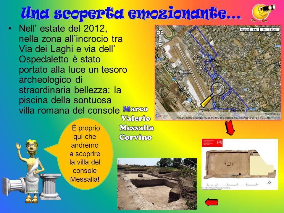 Salve, io sono Primus e vi accompagnerò alla scoperta dei reperti archeologici di Ciampino Ciao, io sono Repertus con il mio aiuto capirete come è importante amare e difendere il territorio in cui viviamo.