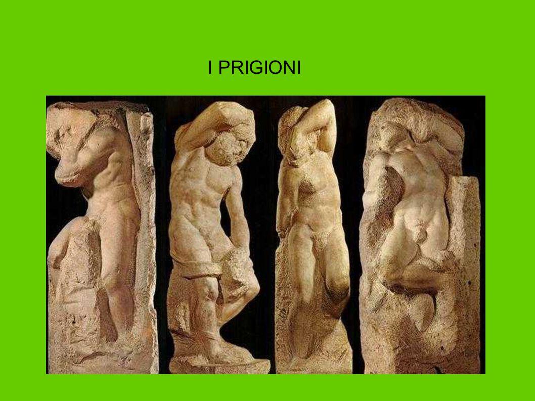 LA SACRESTIA NUOVA CON LE TOMBE MEDICEE Michelangelo fu anche architetto e realizzò opere in pieno spirito Rinascimentale: Archi a tutto sesto Ordini architettonici greci Proporzioni armoniche