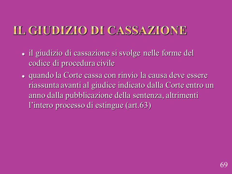 il giudizio di cassazione si svolge nelle forme del codice di procedura civile il giudizio di cassazione si svolge nelle forme del codice di procedura