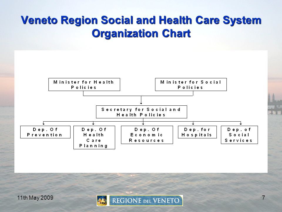 11th May 20097 Veneto Region Social and Health Care System Organization Chart