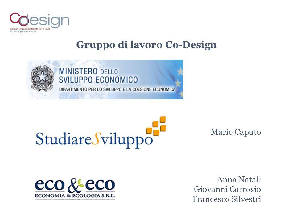 Gruppo di lavoro Co-Design Mario Caputo Anna Natali Giovanni Carrosio Francesco Silvestri