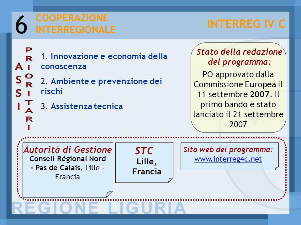6 1. Innovazione e economia della conoscenza 2. Ambiente e prevenzione dei rischi 3.