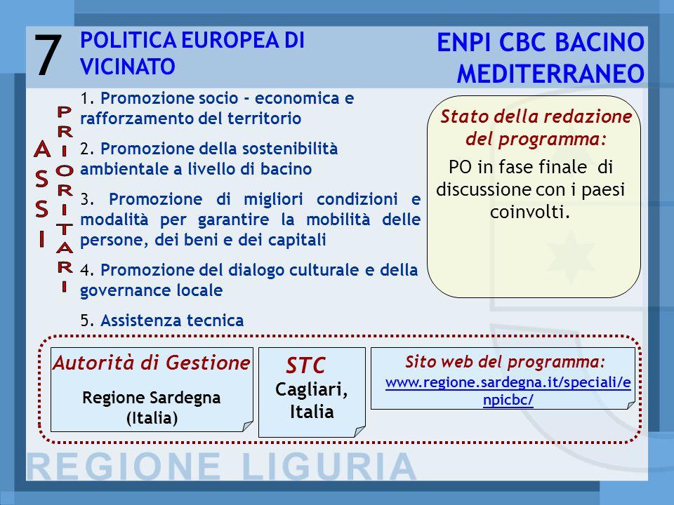 7 1. Promozione socio - economica e rafforzamento del territorio 2.