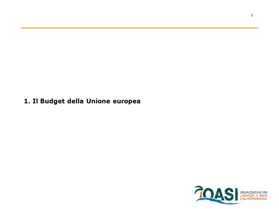 2 1. Il Budget della Unione europea