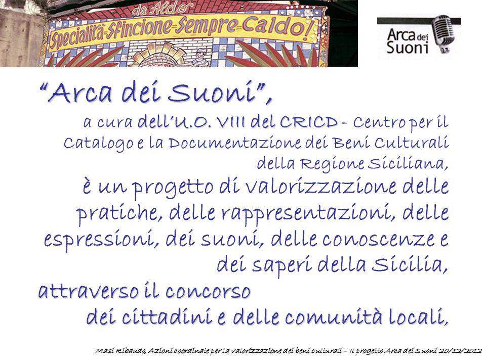 Arca dei Suoni , dell'U.O. VIII del CRICD a cura dell'U.O.
