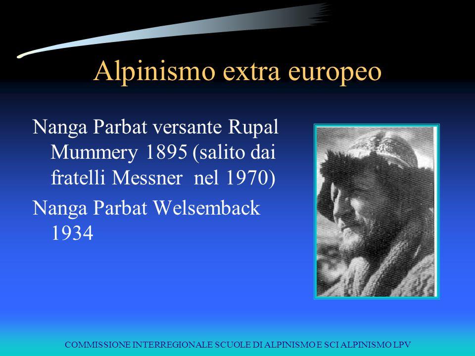 COMMISSIONE INTERREGIONALE SCUOLE DI ALPINISMO E SCI ALPINISMO LPV Alpinismo extra europeo Nanga Parbat versante Rupal Mummery 1895 (salito dai fratel