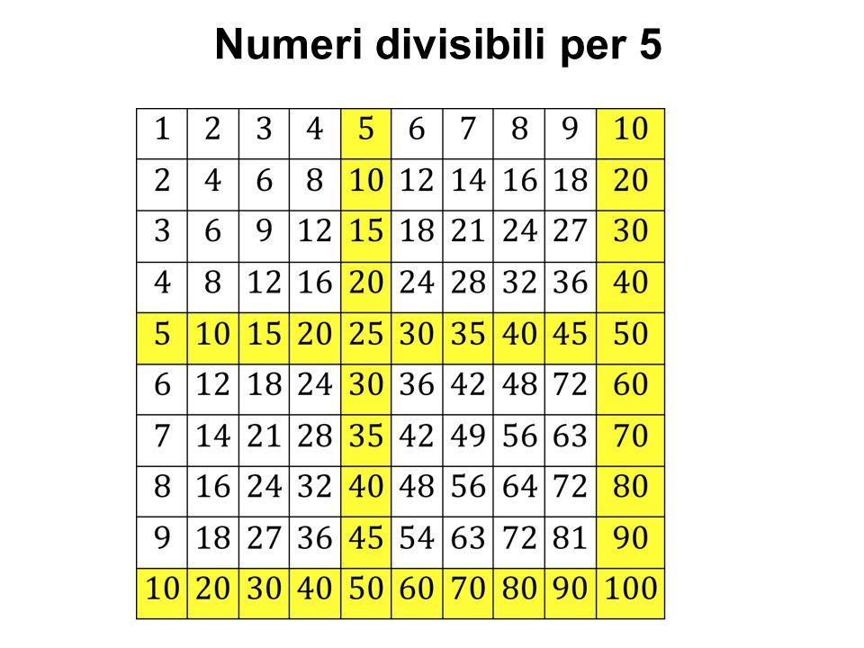 Numeri divisibili per 5