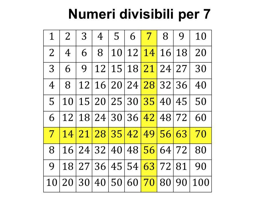 Numeri divisibili per 7