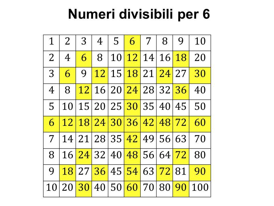 Numeri divisibili per 6