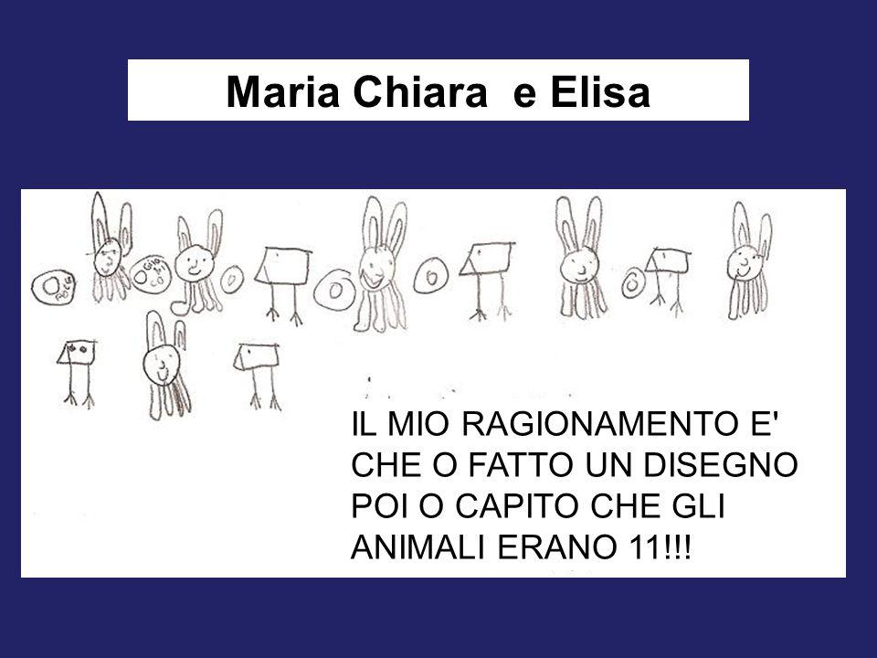 Maria Chiara e Elisa IL MIO RAGIONAMENTO E' CHE O FATTO UN DISEGNO POI O CAPITO CHE GLI ANIMALI ERANO 11!!!