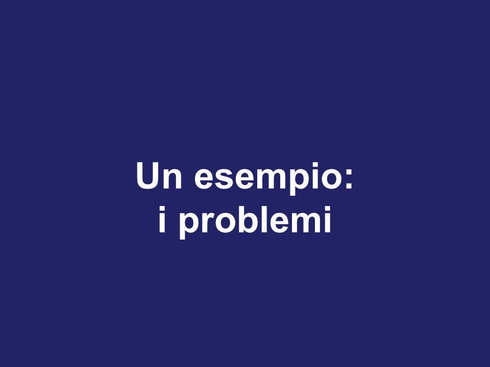 Un esempio: i problemi