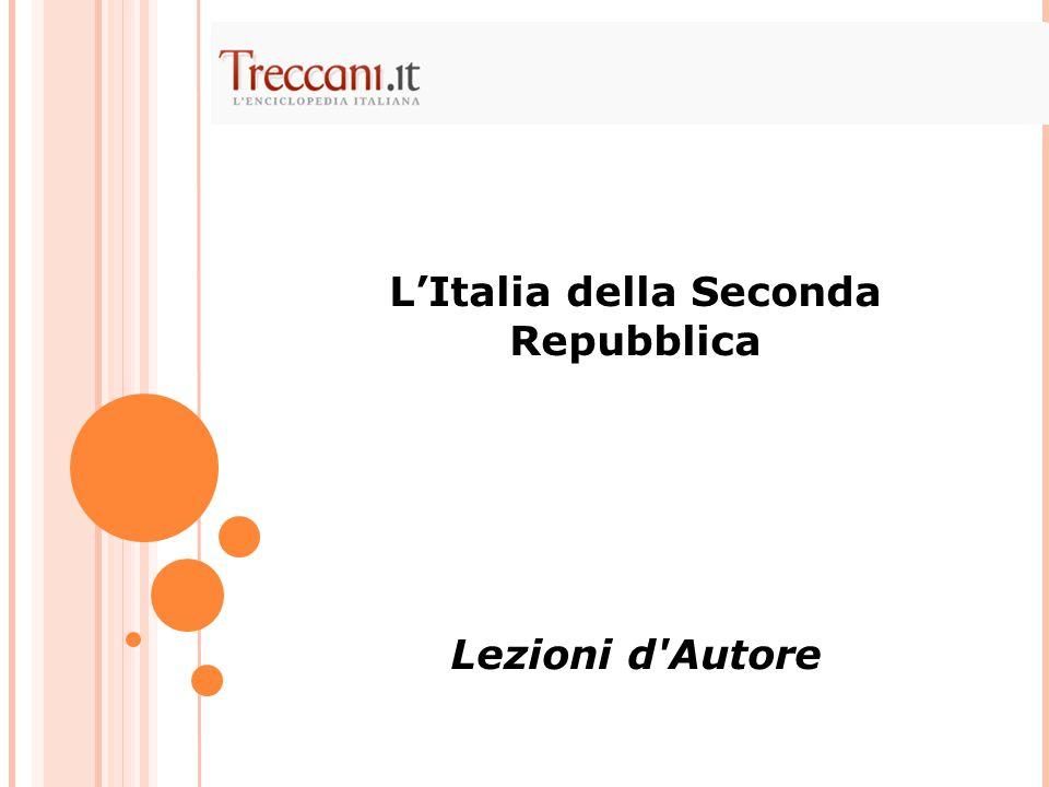 L'Italia della Seconda Repubblica Lezioni d'Autore