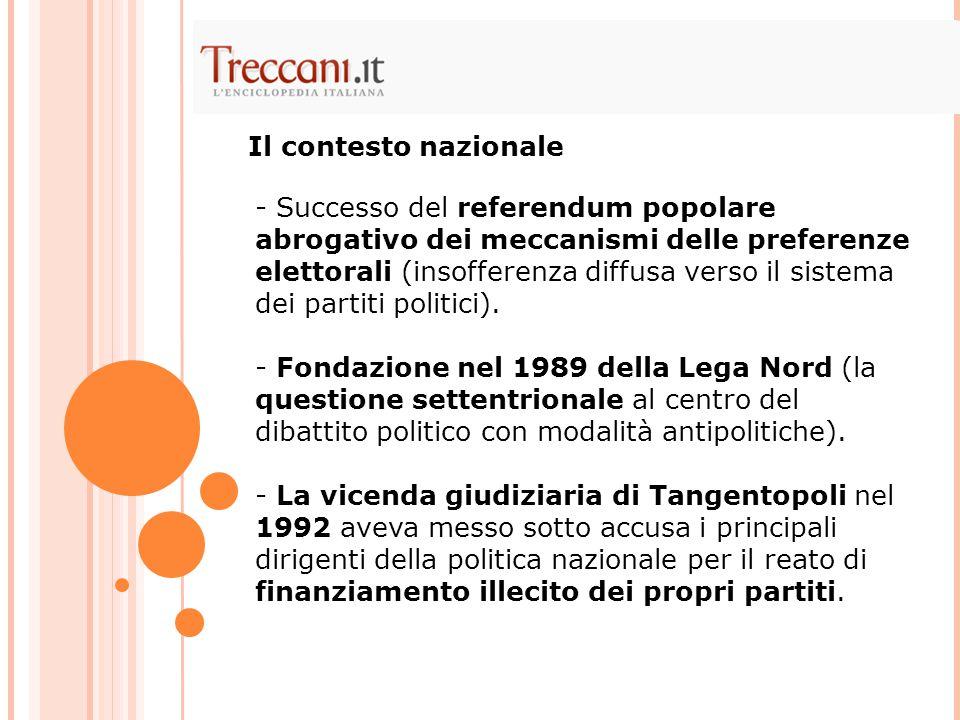 Forza Italia perde le elezioni del 1996 a favore della coalizione di centrosinistra dell'Ulivo, guidata da Romano Prodi.