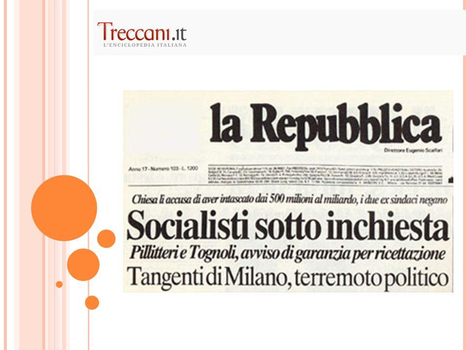 La personalizzazione e spettacolarizzazione della politica era apparsa vincente già negli anni Ottanta  Bettino Craxi e il ridimensionamento del ruolo dei partiti come luogo di elaborazione politica e formazione di quadri dirigenti.