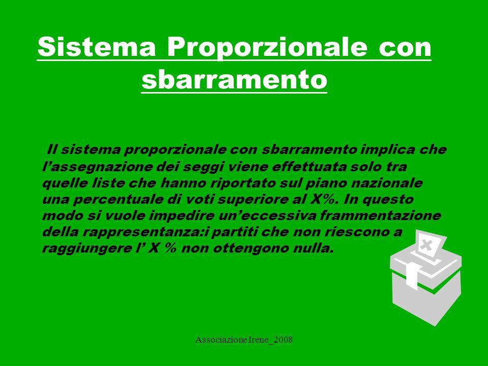 Associazione Irene_2008 Che cosa caratterizza il sistema maggioritario.