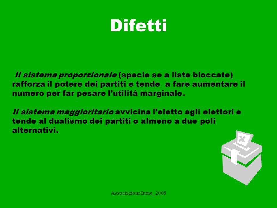 Associazione Irene_2008 SISTEMI ELETTORALI ITALIANI La situazione italiana è molto complessa e differenziata a seconda del tipo di elezione.
