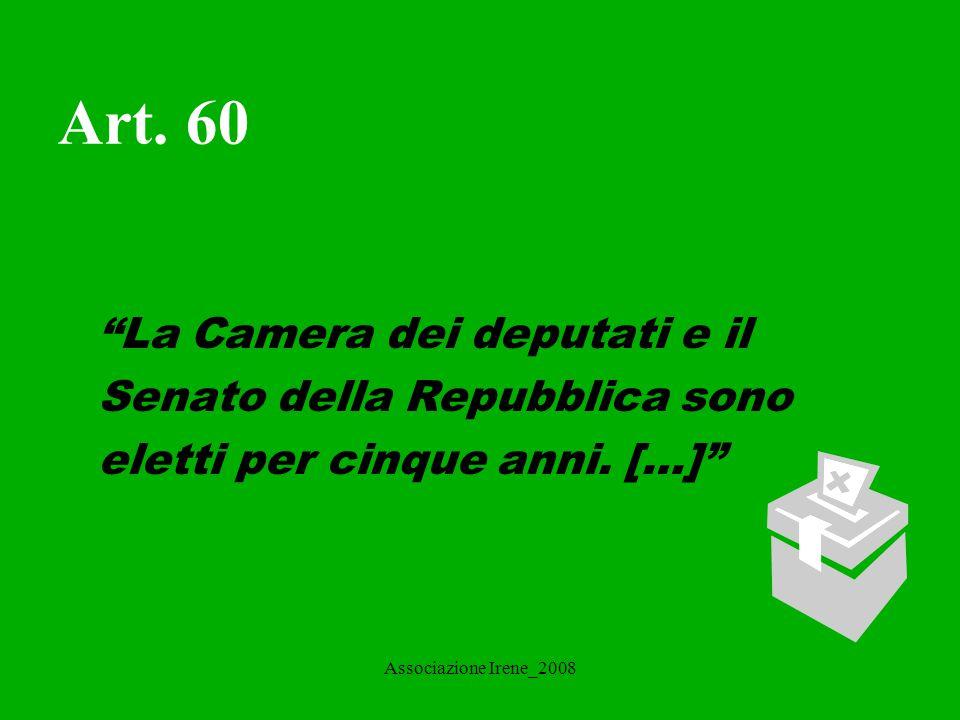 Associazione Irene_2008 Repubblica Parlamentare L'Italia è una Repubblica Parlamentare e come tale: La Costituzione riconosce nel Parlamento la sovranità, espressione della volontà popolare.