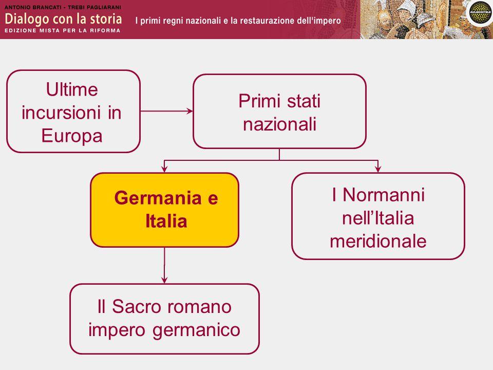 Germania e Italia I regni di Germania e Italia mantengono un'accentuata frammentazione.