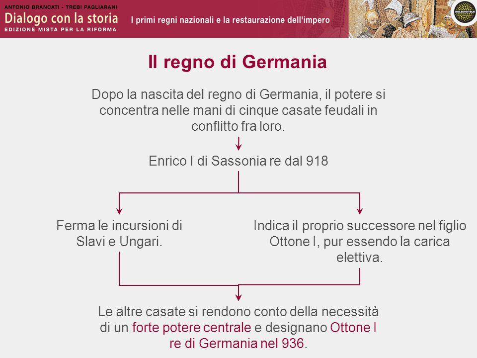 La situazione italiana Nel Regno d'Italia, come in Germania, il sistema feudale ha favorito l'anarchia fra i nobili.