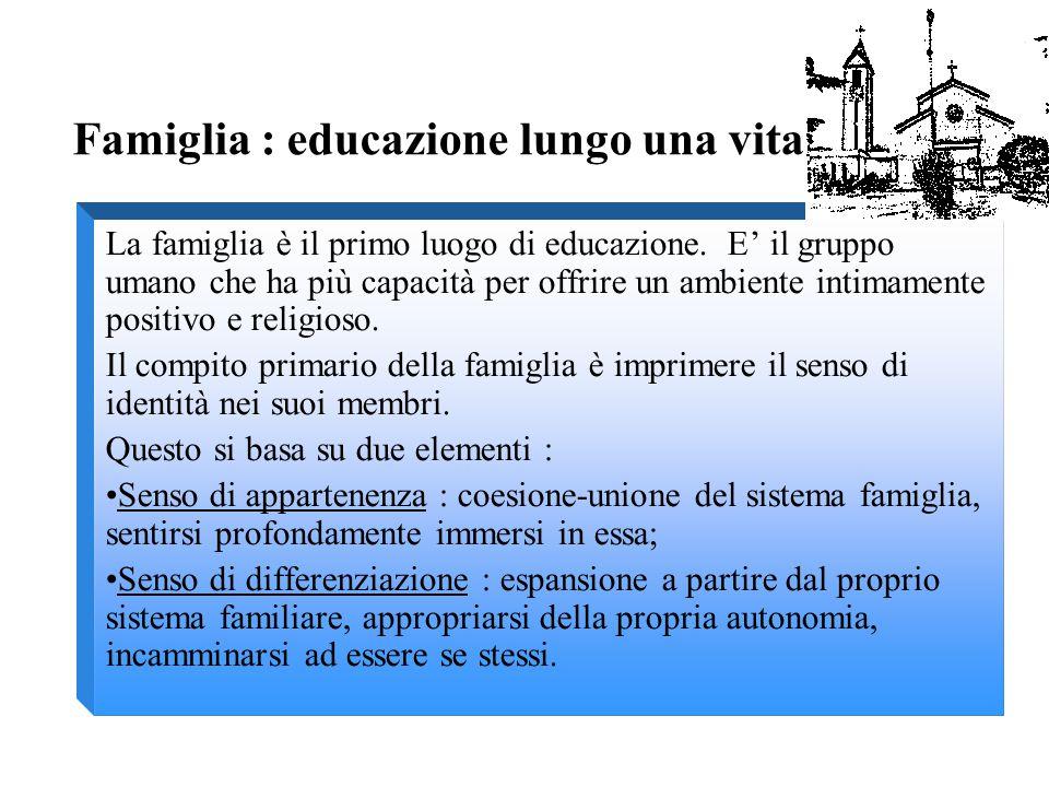 Educare alla famiglia significa auto-educarsi per essere modelli significativi, senza trascurare una educazione rivolta ai più giovani.