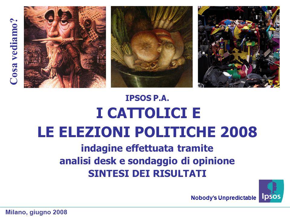 Il voto dei cattolici praticanti