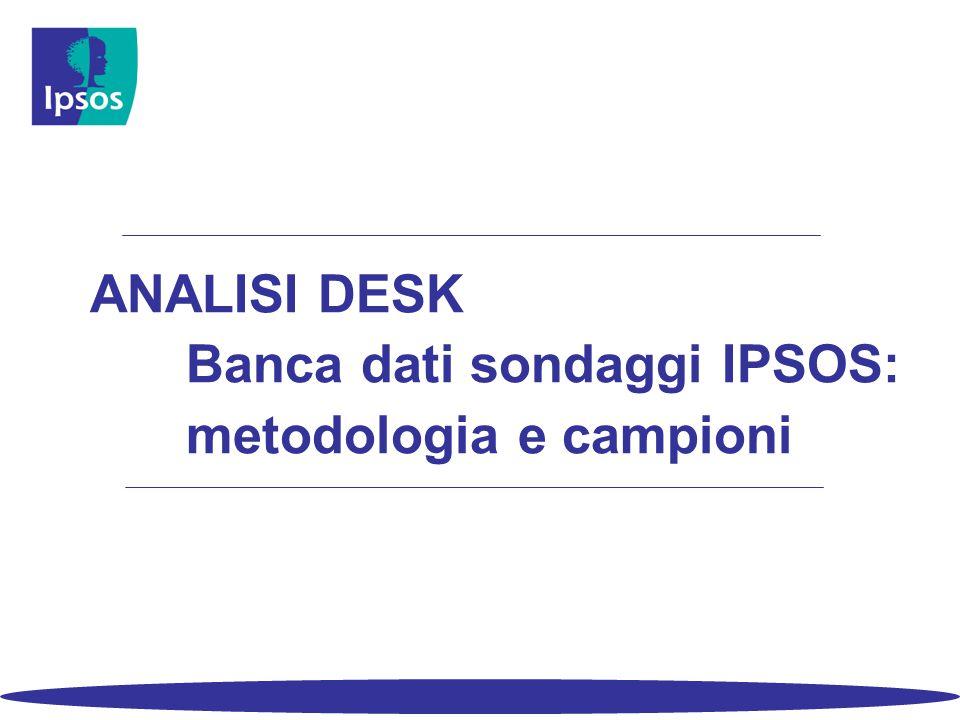 ANALISI DESK Banca dati sondaggi IPSOS: metodologia e campioni