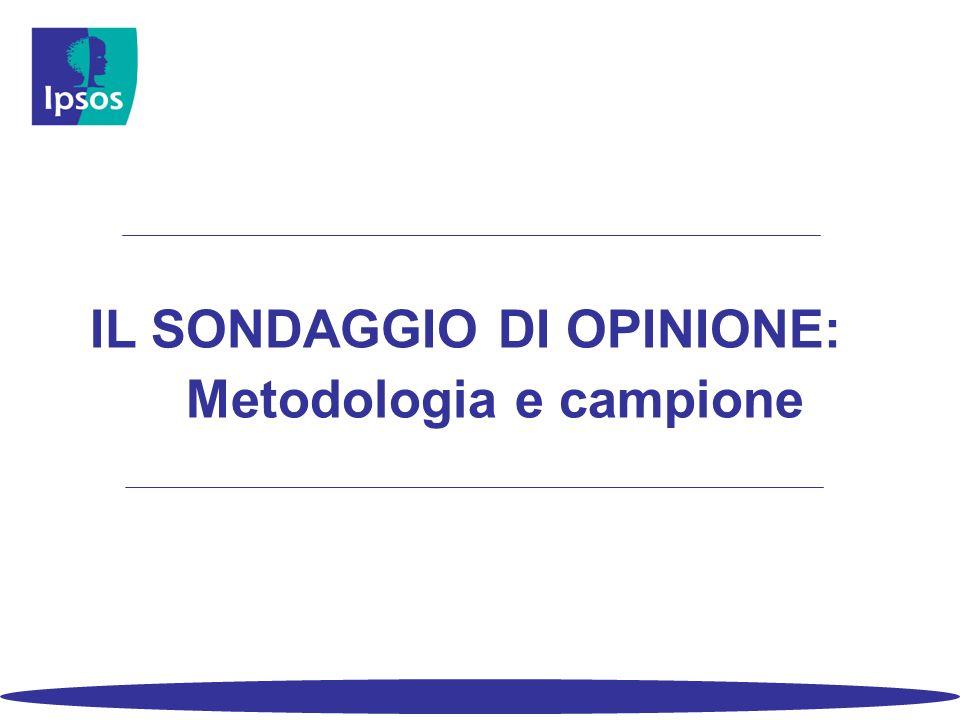 IL SONDAGGIO DI OPINIONE: Metodologia e campione