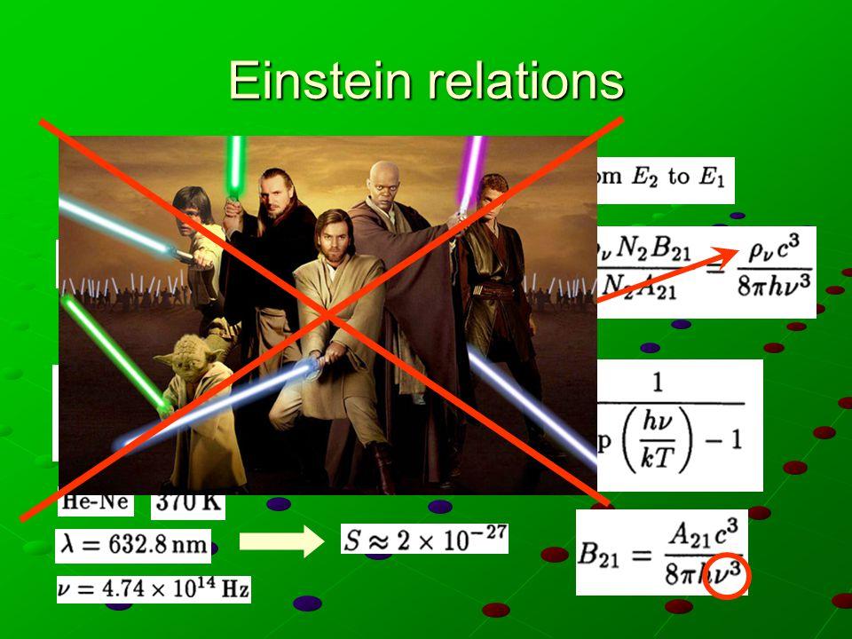 Esercizio Quale temperatura si dovrebbe raggiungere per ottenere emissione stimolata per delle frequenze ottiche all'equilibrio termico (es.