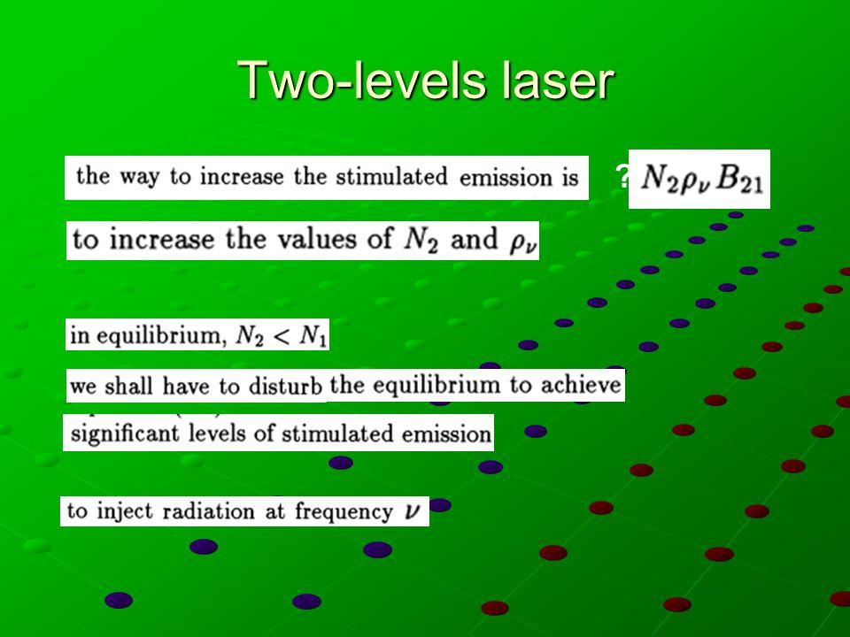 Esercizio Quanti modi sono presenti a 300 K all'interno dello spettro d'uscita di un laser He-Ne, la cui cavità è lunga 50 cm.