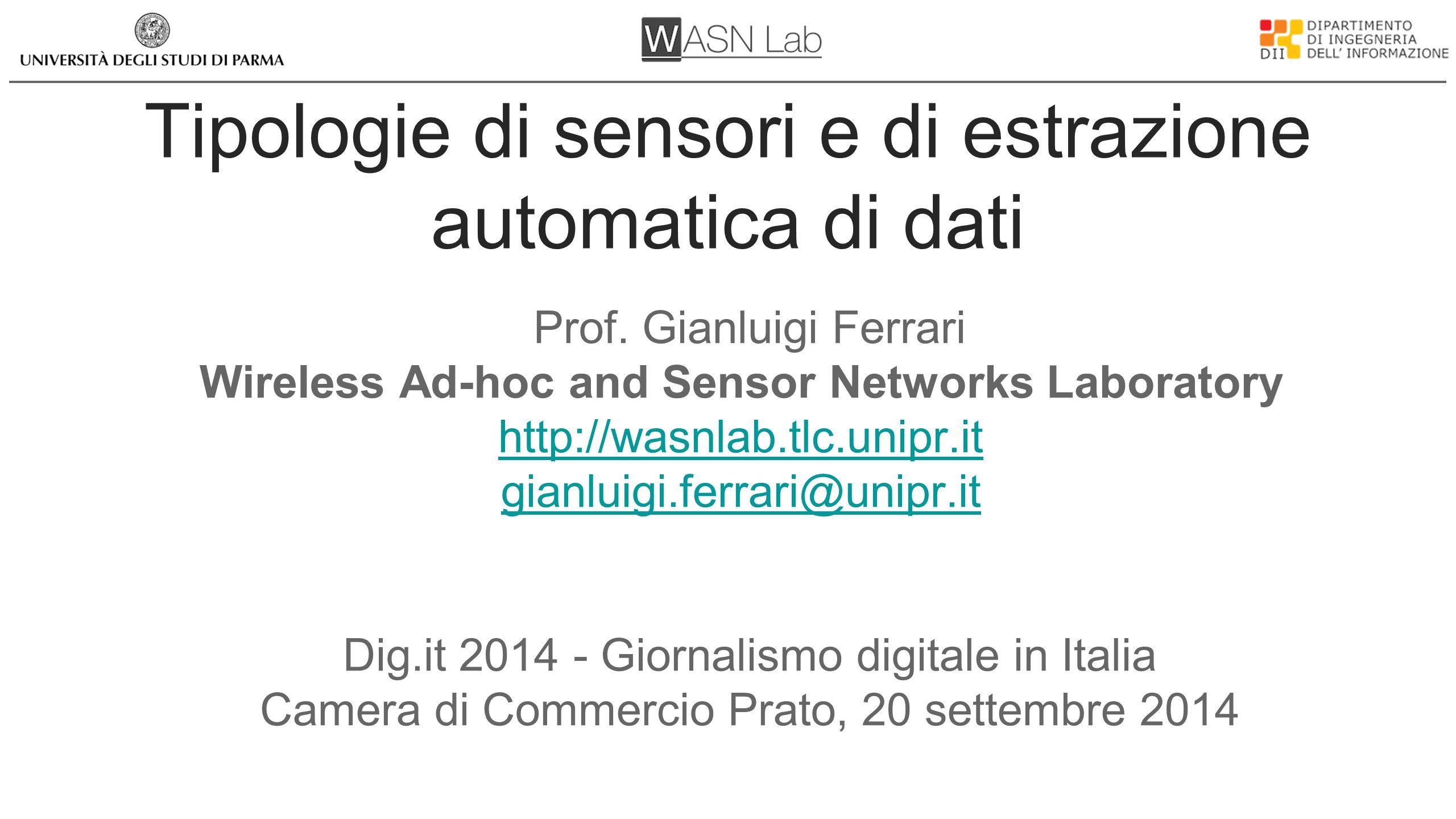 WASN Lab Wireless Ad-hoc and Sensor Networks Laboratory Prof.