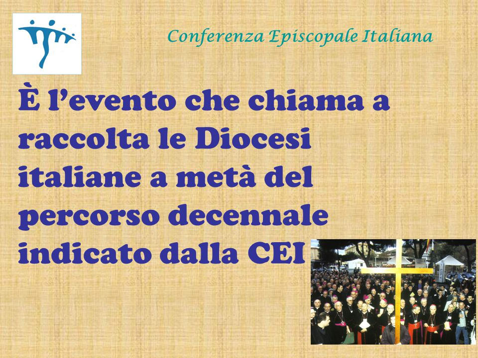 Conferenza Episcopale Italiana Motivazioni dell'Obiettivo 3 È necessario che le nostre Chiese e noi cristiani, pertanto, accogliamo con gioia l'invito evangelico, rinnovato dalla lettera apostolica Novo millennio ineunte, a prendere il largo (cfr Lc 5,4).
