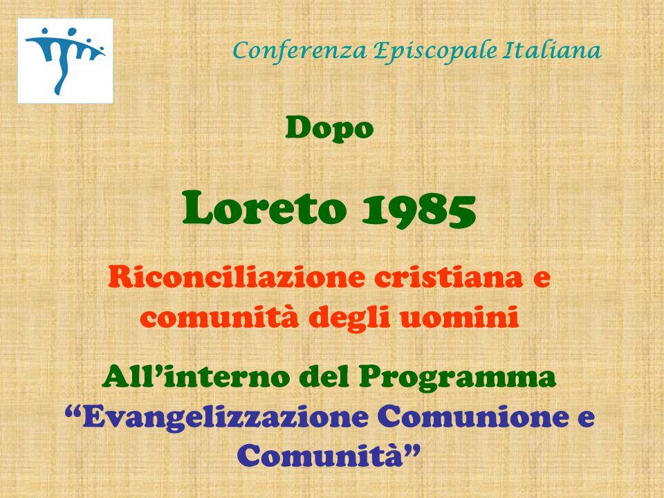Conferenza Episcopale Italiana Dopo Palermo 1995 Il Vangelo della carità per una nuova società in Italia All'interno del Programma Evangelizzazione e testimonianza della carità