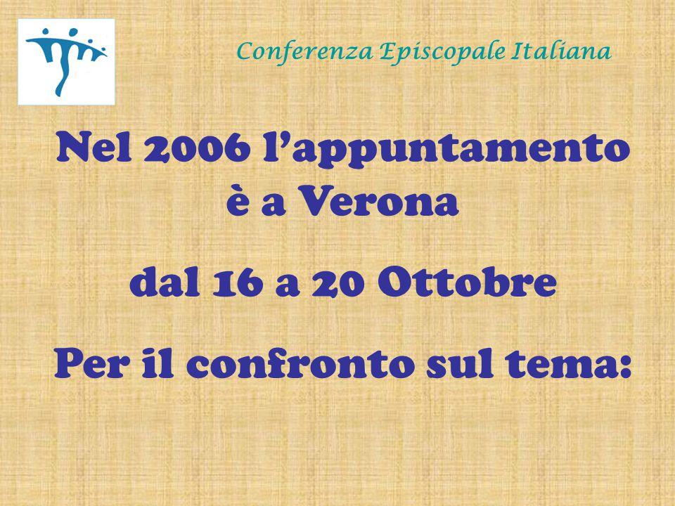 Conferenza Episcopale Italiana Lettura del logo Un Cristo stilizzato, che con le braccia aperte forma degli archi che richiamano quelli dell'Arena di Verona.