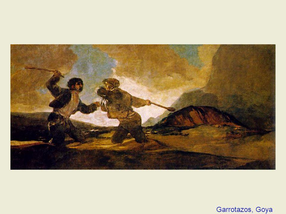 Garrotazos, Goya