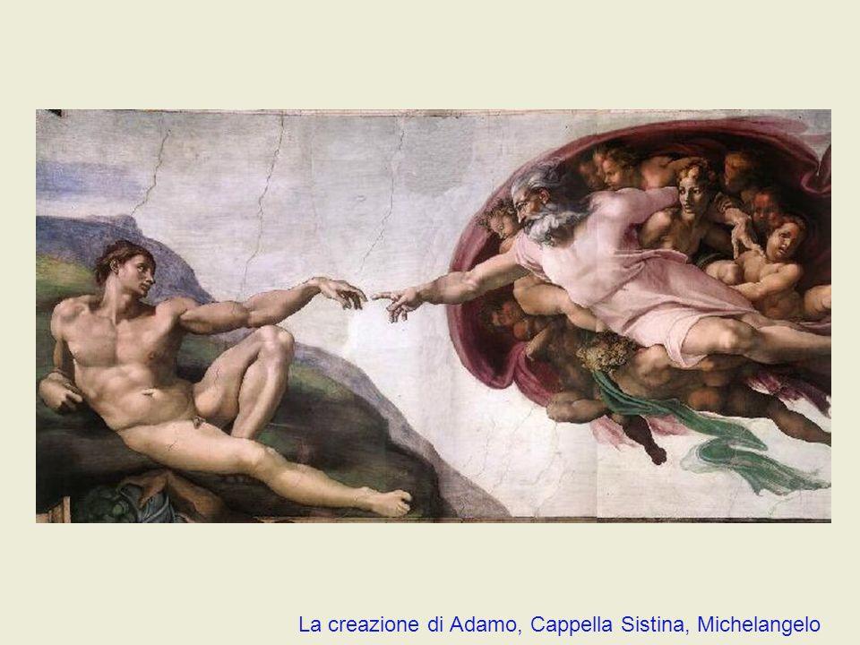 La creazione di Adamo, Cappella Sistina, Michelangelo