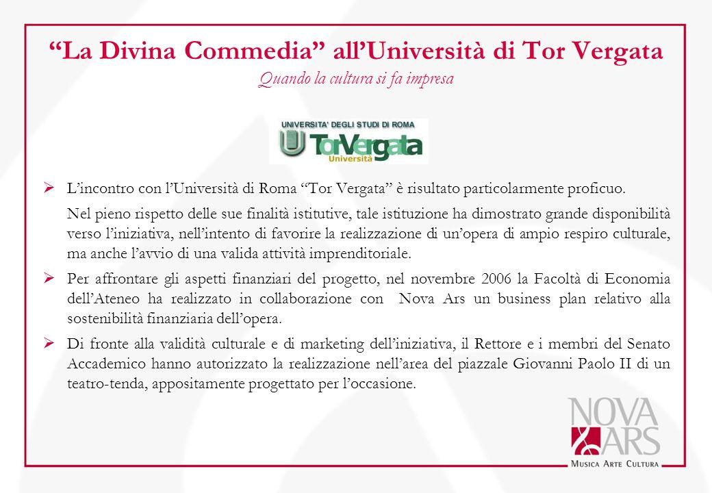 """La Divina Commedia"" all'Università di Tor Vergata Quando la cultura si fa impresa  L'incontro con l'Università di Roma ""Tor Vergata"" è risultato par"