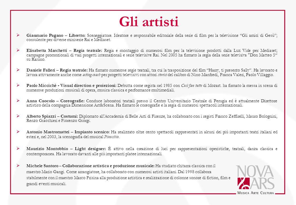 Gli artisti  Gianmario Pagano – Libretto: Sceneggiatore.