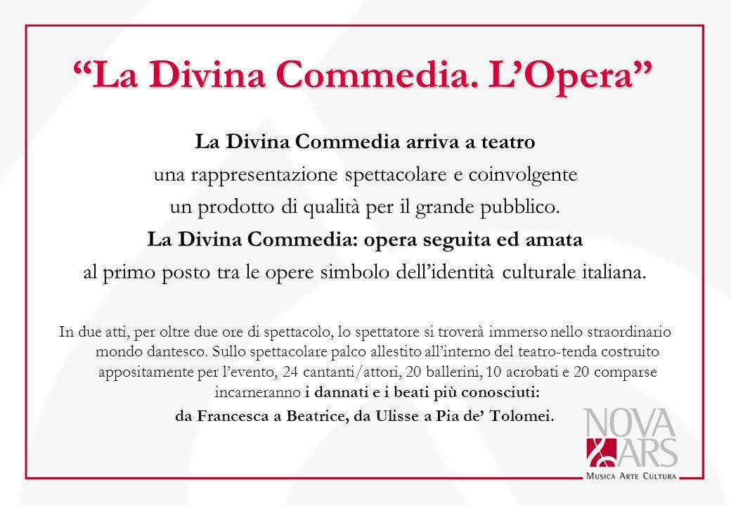 La Divina Commedia arriva a teatro una rappresentazione spettacolare e coinvolgente un prodotto di qualità per il grande pubblico. La Divina Commedia: