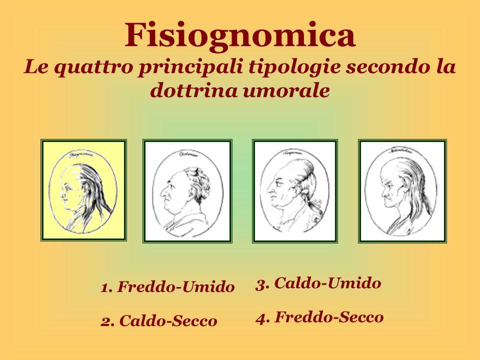 Fisiognomica Le quattro principali tipologie secondo la dottrina umorale 1.
