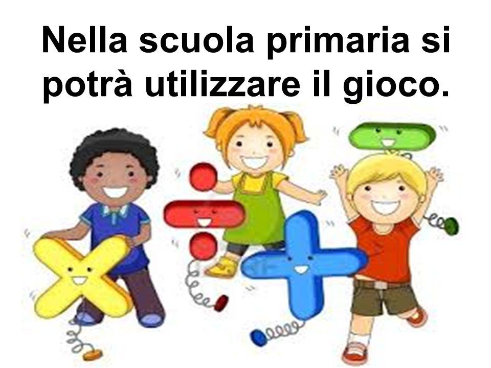 Nella scuola primaria si potrà utilizzare il gioco.