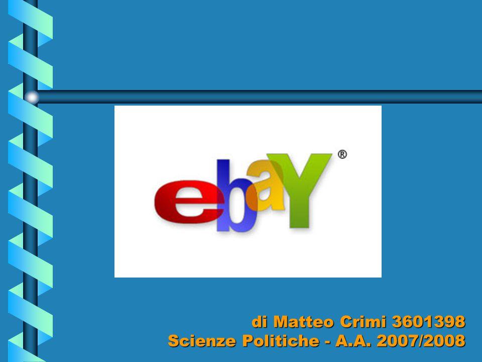 E gli altri … iBazar Nasce nell'agosto 1999 con un patrimonio iniziale di circa €12 milioni La pubblicità con Platinette come testimonial fa molto rumore, pochi iscritti e ancor meno fatturato, ma quel che importa è la sua visibilità eBay® nel febbraio 2001 la compra.