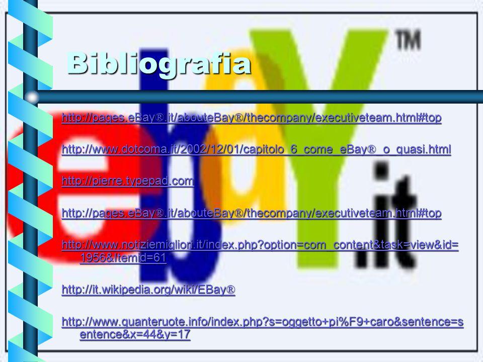Proposte per il futuro eBay® e Google hanno concluso nel 2006 un accordo pluriennale per fare sinergia nel mercato on-line al fine di aumentare la quota di pubblicità loro spettante.