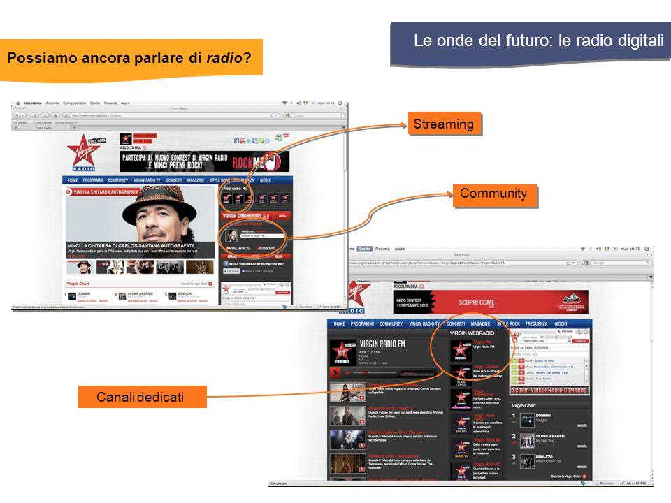 Streaming Community Canali dedicati Le onde del futuro: le radio digitali Possiamo ancora parlare di radio?